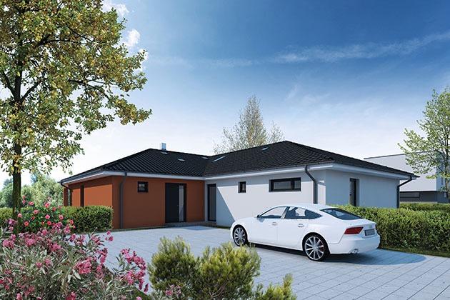 Typový projekt rodinného domu se dvěma byty nebo dvojdům?