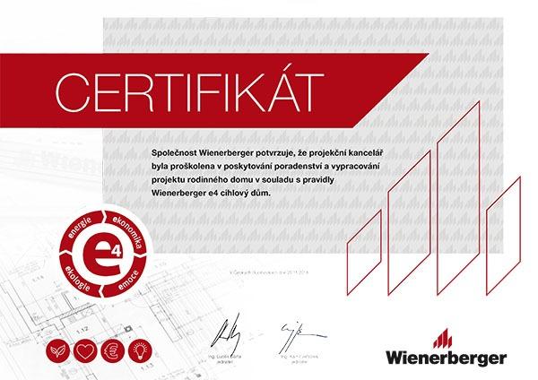 Certifikovaná e4 projekční kancelář