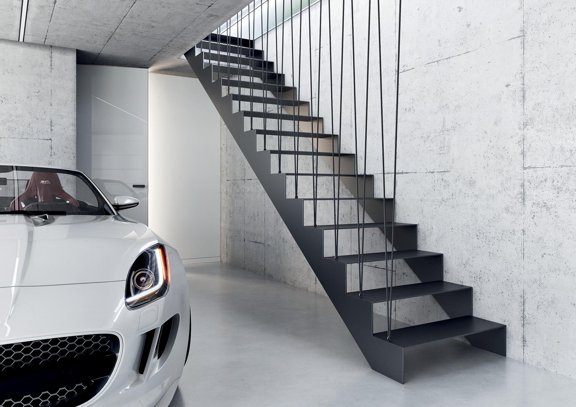 Interiérové schodiště: S grácií vzhůru i dolů